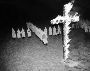 KKK cross-burning