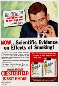 tobacco ad pseudoscience