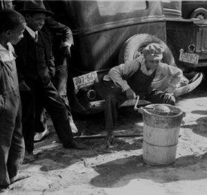 boys making ice cream, 1940