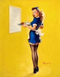 Elvgren waitress