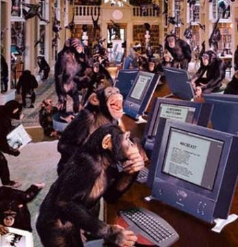Monkeys typing Shakespeare