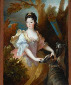 Portrait of a Lady as Diana by Nicholas de Largilliere