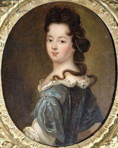 Portrait of a lady, said to be Marie Angelique de Scorraille de Roussilles, Duchesse de Fontanges