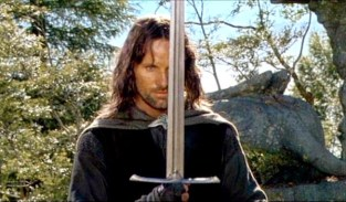 aragorn with sword