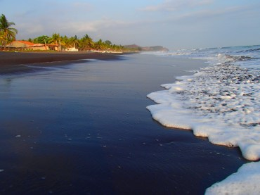 Black sand beaches of El Salvador