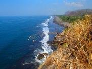 Looking back onto Playa Dorado