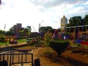 colourful central plaza in Chinadega