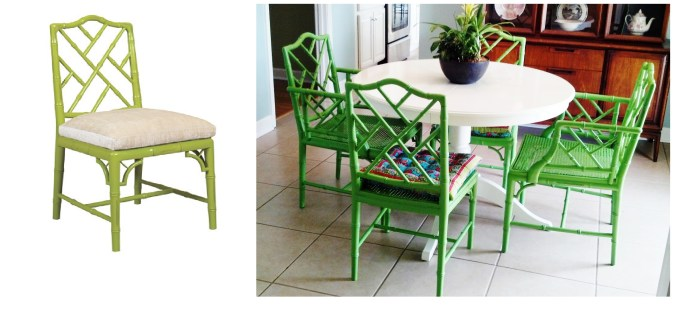 Chinese Chippendale Chairs are timeless and in bold bright colors they are also completely modern.