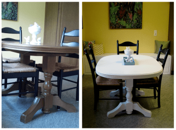 Painting this thrift store table gave it a whole new look.