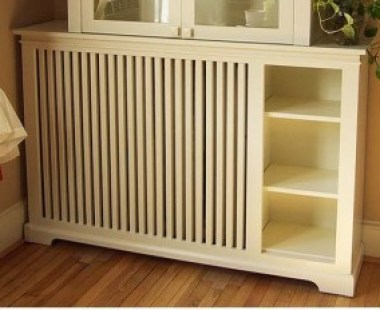 Wooden Radiator Cabinet and book shelf by WRCC