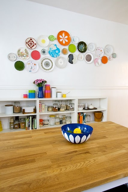 Or try any collection you like, plates or even clocks make a great gallery wall especially when you are repeating the same shape!