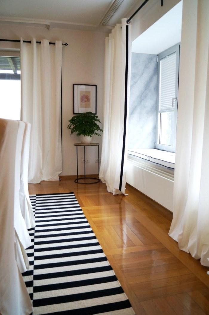 Ready made Ikea to custom curtains