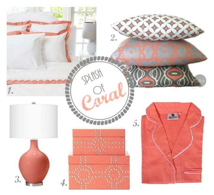 Coral bedroom text