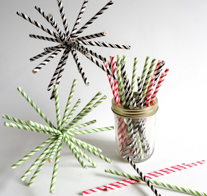 Paper straw stars, great for any time of year