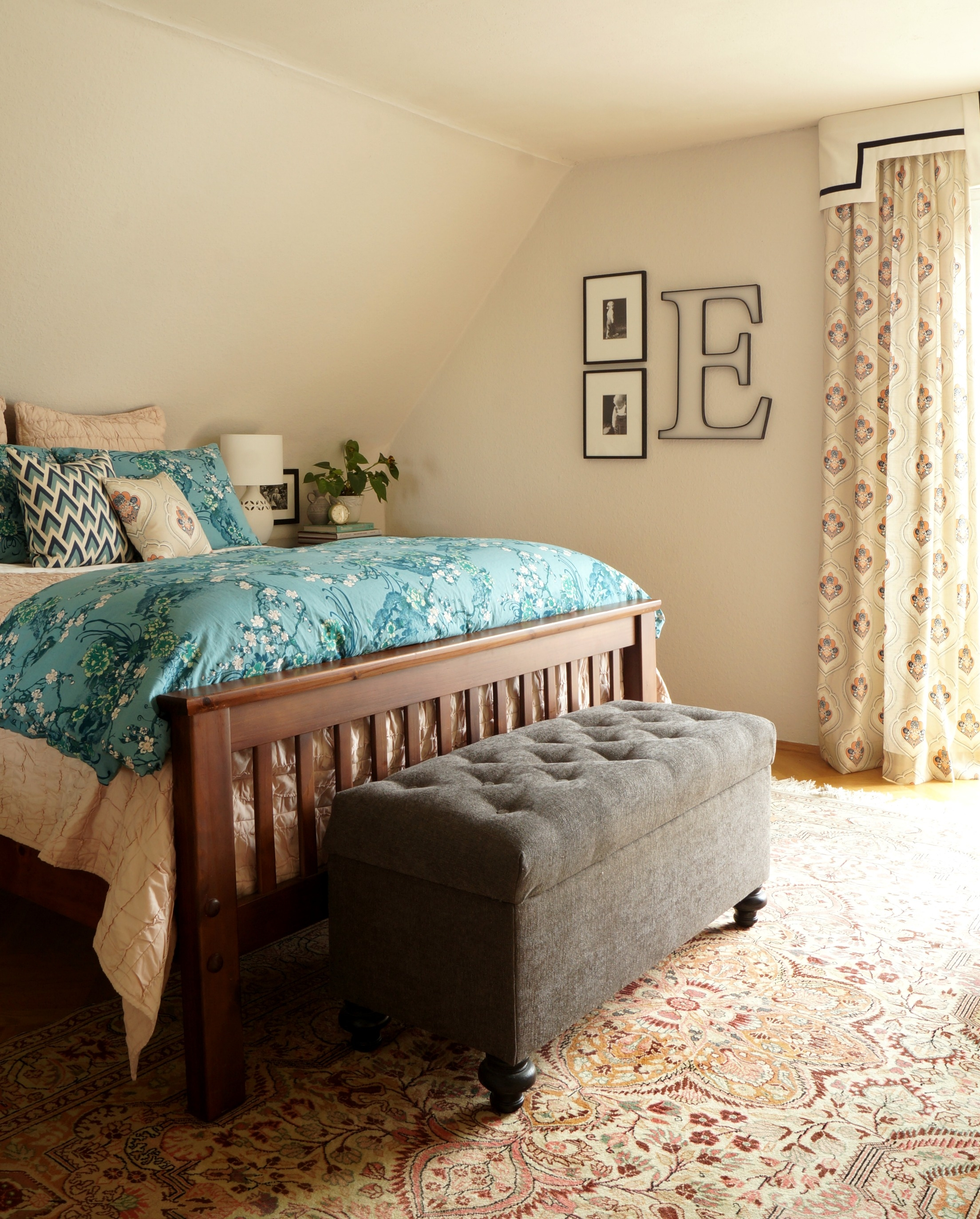 Master Bedroom: Master Bedroom In Aqua And Blush