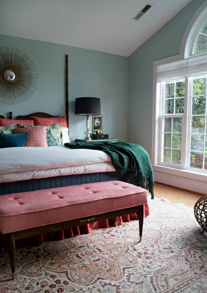 Coral And Green Master Bedroom Strikes Again
