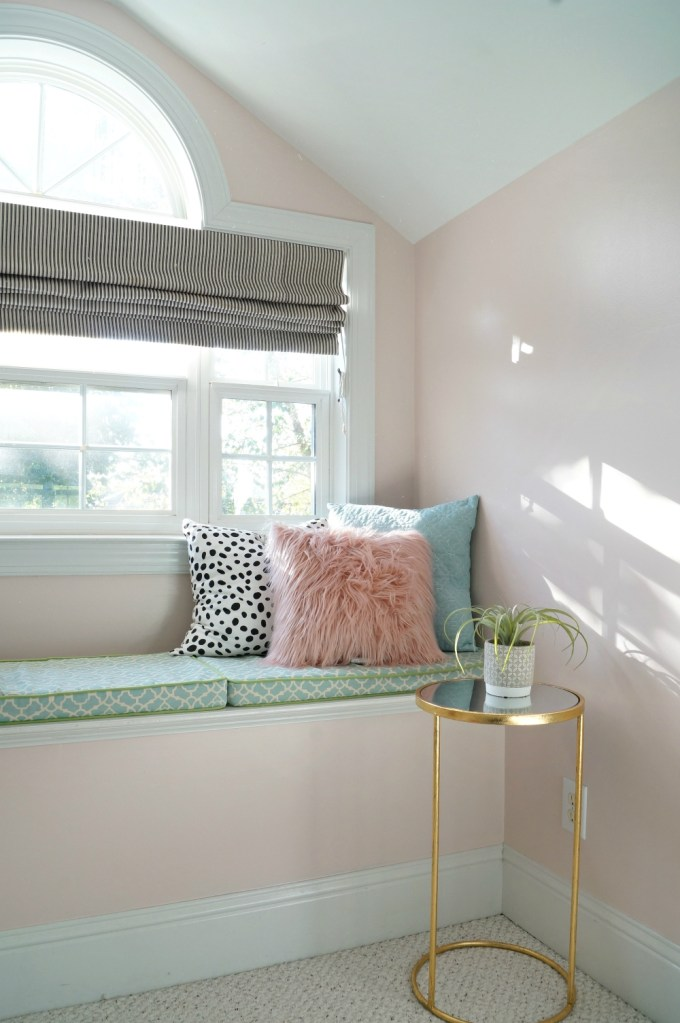Teen Girl's Room in Pink and Gray