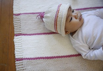 Maggie Pace's knit baby hat for beginners 4