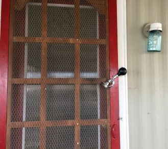 """A """"Bicycle Horn"""" makes an interesting door-bell."""