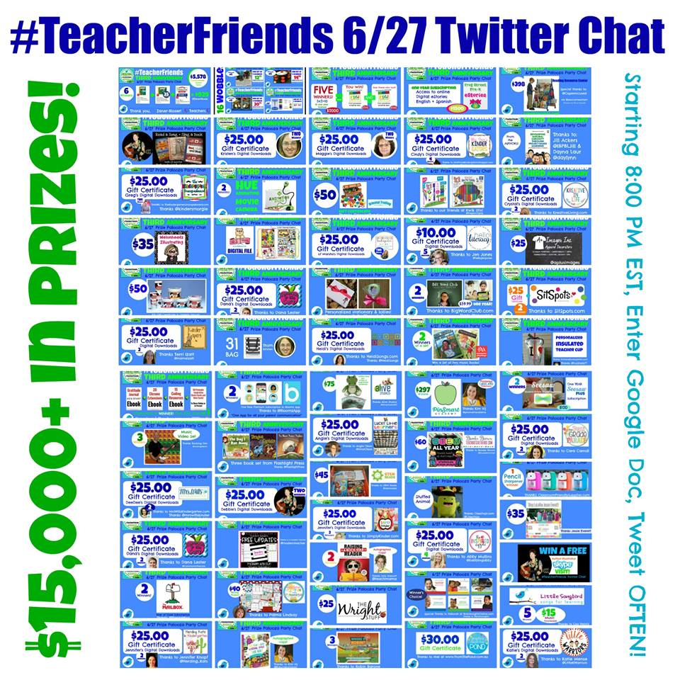 It's here!#TeacherFriends 3rd Anniversary + $15,000 Prize Giveaway!