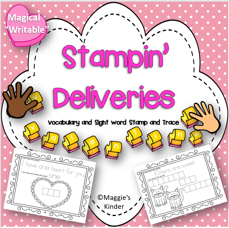 February Stamping and Writing Activities