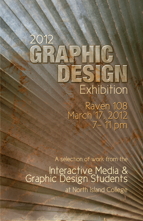 Graphic design event poster designed by Maggie Ziegler