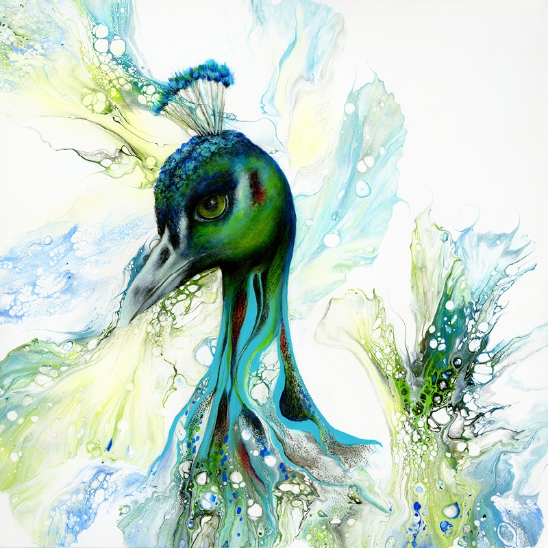 Original acrylic art and prints Maggie Ziegler Art Alchemy Studio Courtenay BC