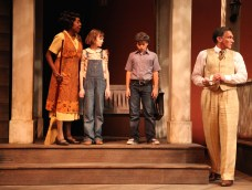 To Kill a Mockingbird - Capernis, Scout, Jem, and Atticus