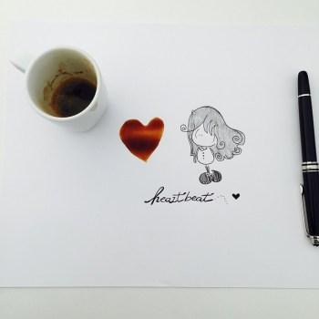 Un cuore pieno di caffè