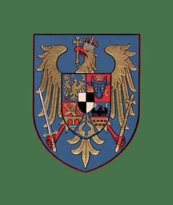 """Regatul României - Stemă aflată pe cartea """"Povestea vieții mele"""" - Regina Maria (mică)"""