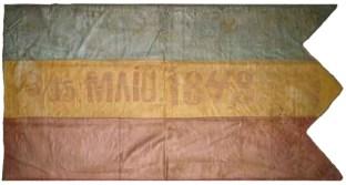 """Drapel cu deviza """"15 MAIU 1848"""""""
