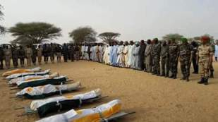 Burial ceremony of Nigerien security forces. Source: Sahel MeMo