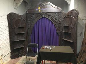 el escenario del micro teatro de magos artesanos