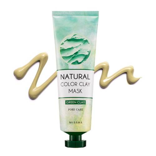 MISSHA Natural Color Clay Mask GREEN Clay Pore