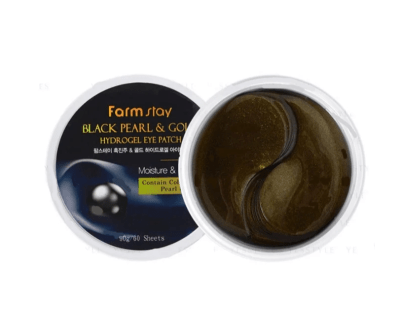 Патчи под глаза Farm stay Black pearl and gold Hydrogel eye patch