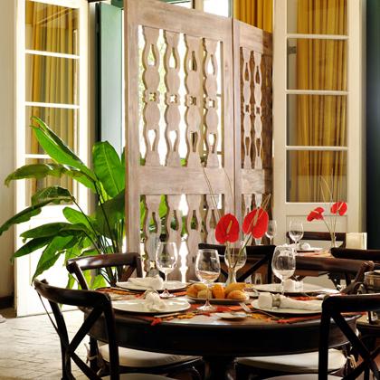 Restaurant at La Villa Bahia, Pelourinho, Salvador de Bahia 2009