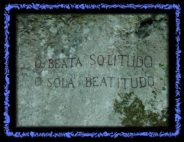 Inschrift in der Ermitage Arlesheim