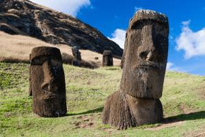 Moais Figuren auf der Osterinsel