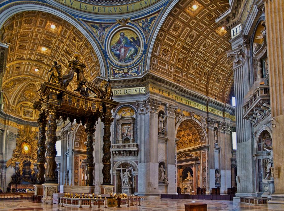 Petersdom Basilika in Rom - Innenansicht