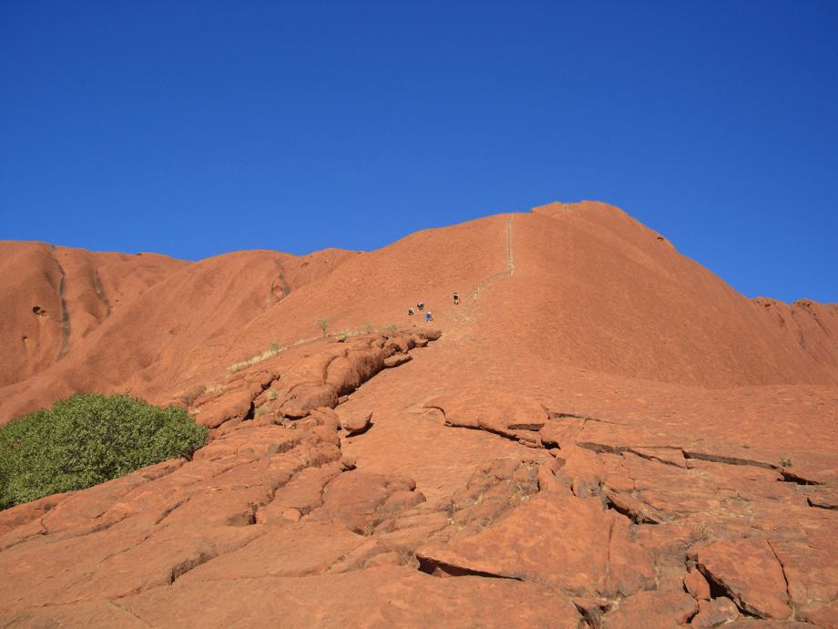 Climbing Uluru - Ayers Rock, Australian Outback