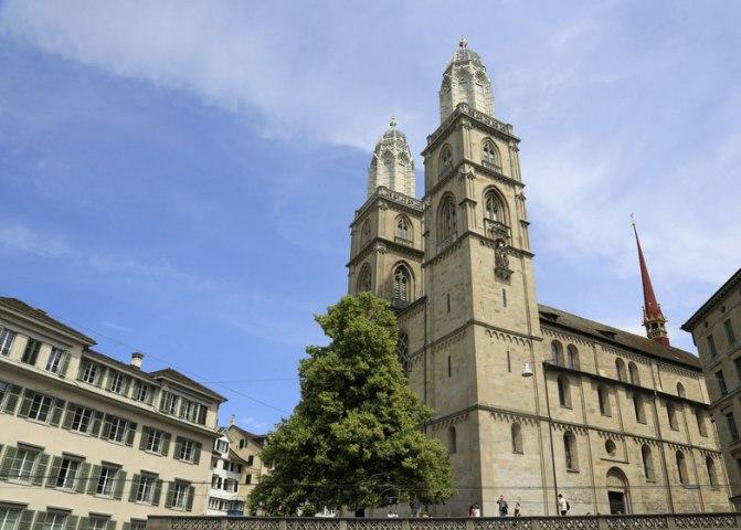 Das Grossmünster in Zürich