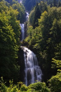 Giessbach Falls in the Bernese Oberland near Brienz at Lake Brienz.