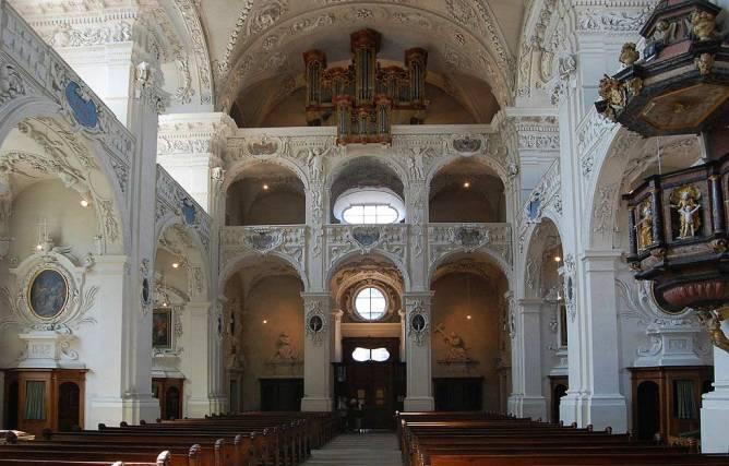 Jesuitenkirche Solothurn Innenansicht