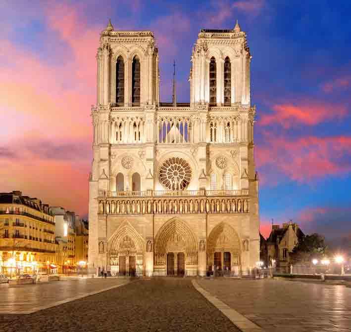 Portal of the cathedral Notre Dame de Paris