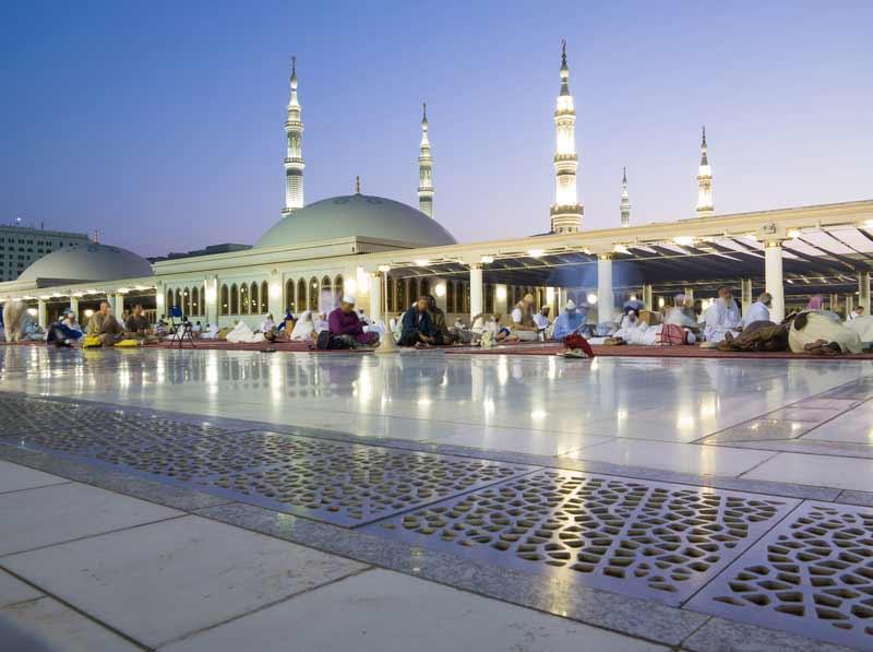 Gläubige Moslems in Mekka