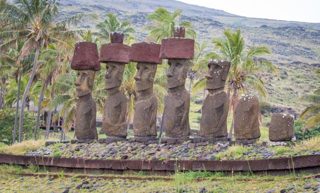 Moai Statues on Easter Island Chile