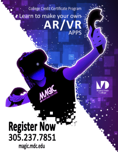 Learn to make VR & AR Apps with MAGIC's New College Credit Certificate Program