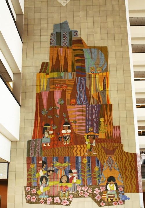 90 foot tall Mural by Disney Legend Mary Blair - Photo by Lea Stickel