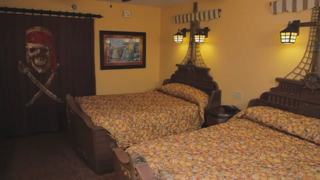 Pirate Themed Room - Photo by Disney