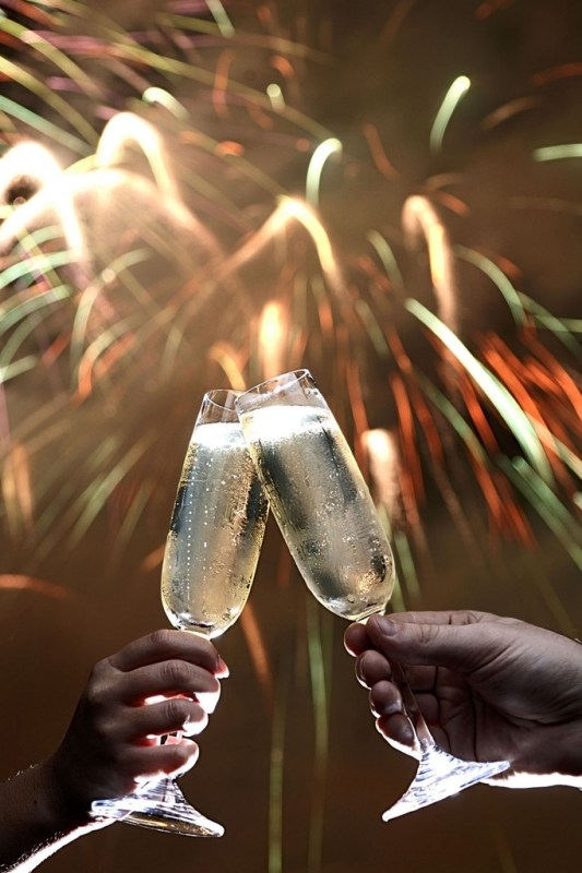 Toasting the New Year - Photo by Diana Zalucky